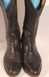 Tony Lama 6156 Black Leather Cowboy Boots Size 9